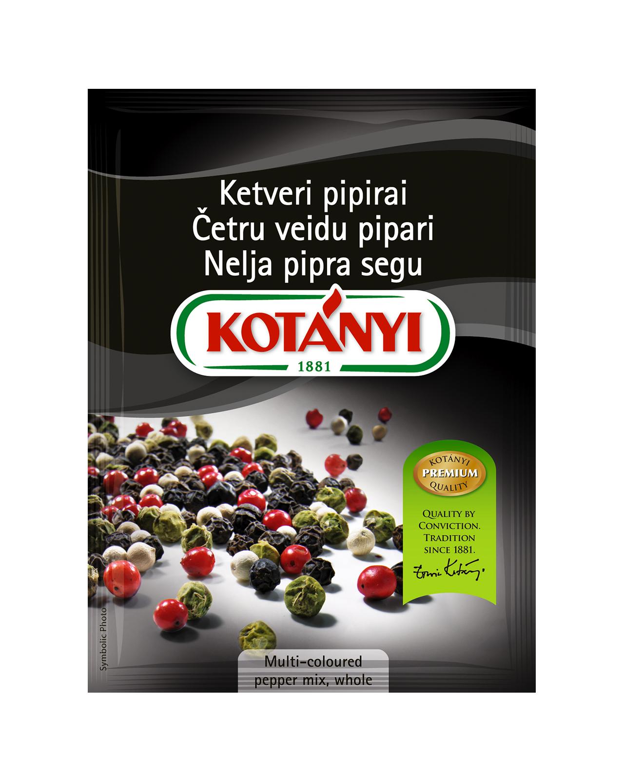 Kotányi pepper rainbow whole in a pouch